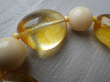 Load image into Gallery viewer, Vintage Honey Light & Butter Amber Chunky Stretch Bracelet