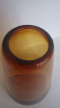 Danish Amber Tear Drop Tapered Glass Vase