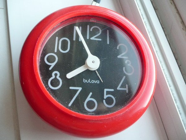 Space Age Carry Bulova Alarm Clock & handle