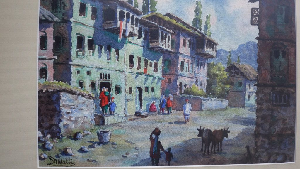 Dina Nath Walli Original Watercolor 1950's