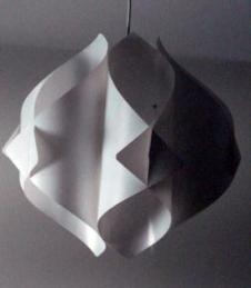 Danish Modern Geometric Swag Lamp