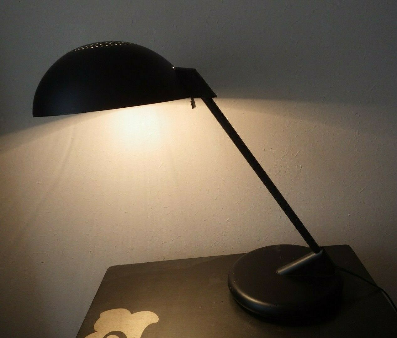Mid Century Black Desk Lamp after Harvey Guzzini