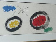 Load image into Gallery viewer, Joan Miro Derriere Le Miroir # 87-88-89: 1956 Modernist Watercolor Art