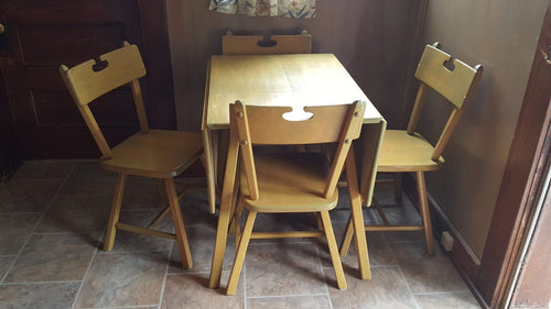 Heywood Wakefield Colonial Drop Leaf Table & Chairs