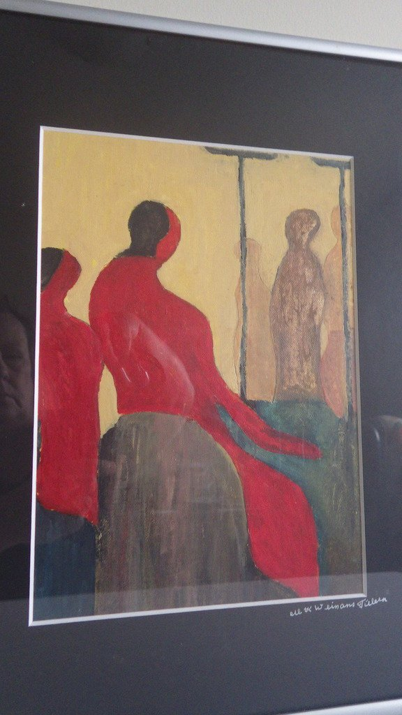 Modernist Figural Oil on Board