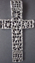 Load image into Gallery viewer, Modernist Robert Larin Sterling Cross & Chain