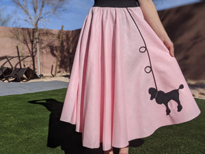 4-Piece Adult Set Poodle Skirt, Scarf, Slip & White T-shirt with Initial