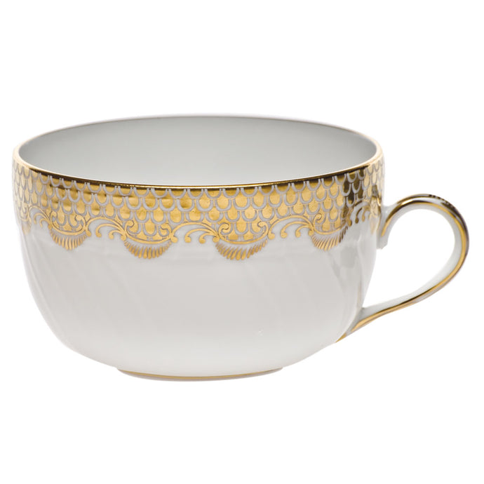 Fish Scale Gold Tea Cup