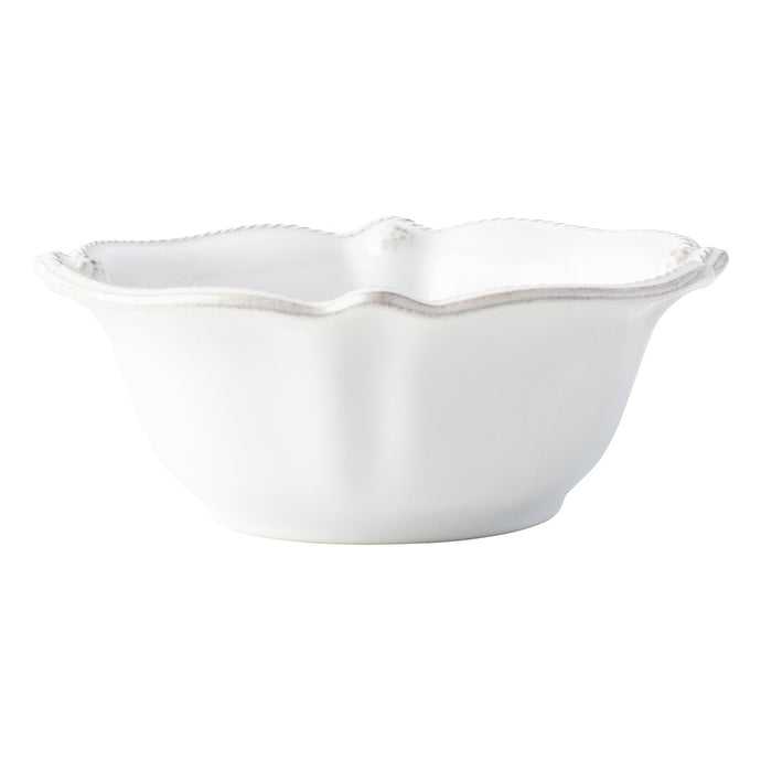 Berry & Thread Scalloped Whitewash Cereal/Ice Cream Bowl