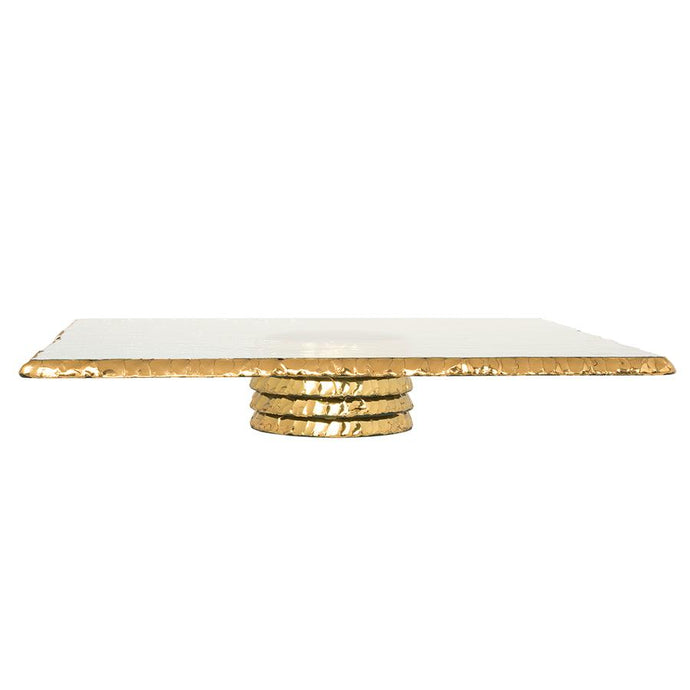 Edgey Gold Square Pedestal