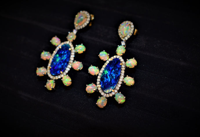 14 Karat JAC Opal Mix Earrings