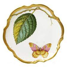 Antique Forest Leaf Bread & Butter Plate