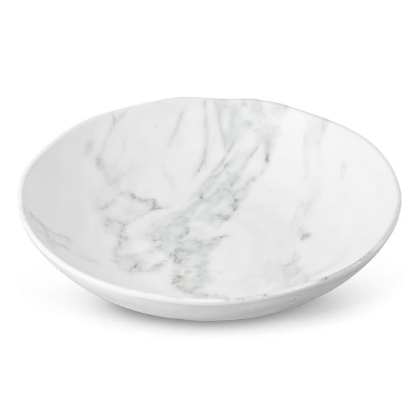Round Salad Bowl White Marble
