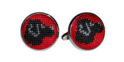 Black Lab Needle Point Cufflinks