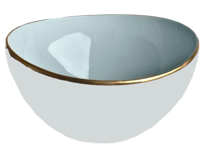 Powder Blue Open Vegetable Bowl