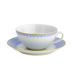 Cornflower Lace Tea Cup & Saucer