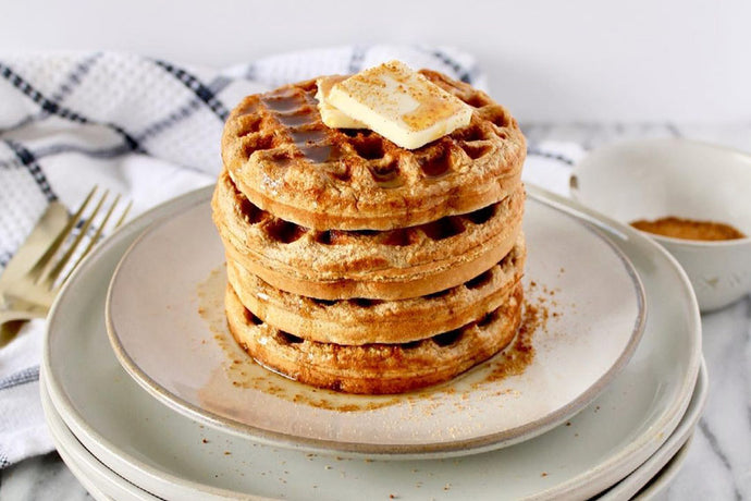 Cinnamon Protein Waffles with SFH Vanilla Protein by Honey Street Food