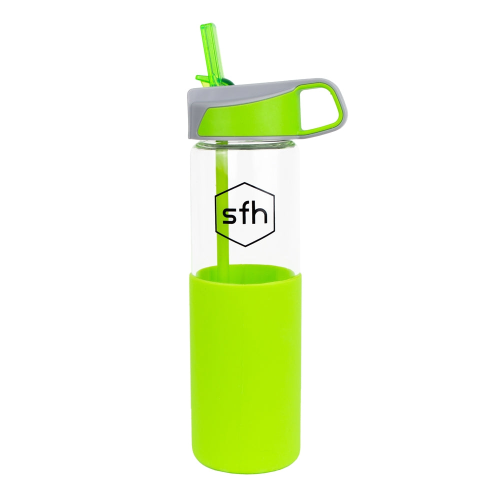 SIP-N-GO GLASS WATER BOTTLE