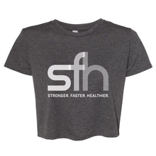 Load image into Gallery viewer, SFH CLASSIC WOMEN'S GREY CROP TOP