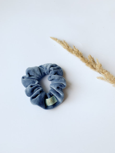 Looks by Luks Velvet Scrunchie Midi Dusty Blue