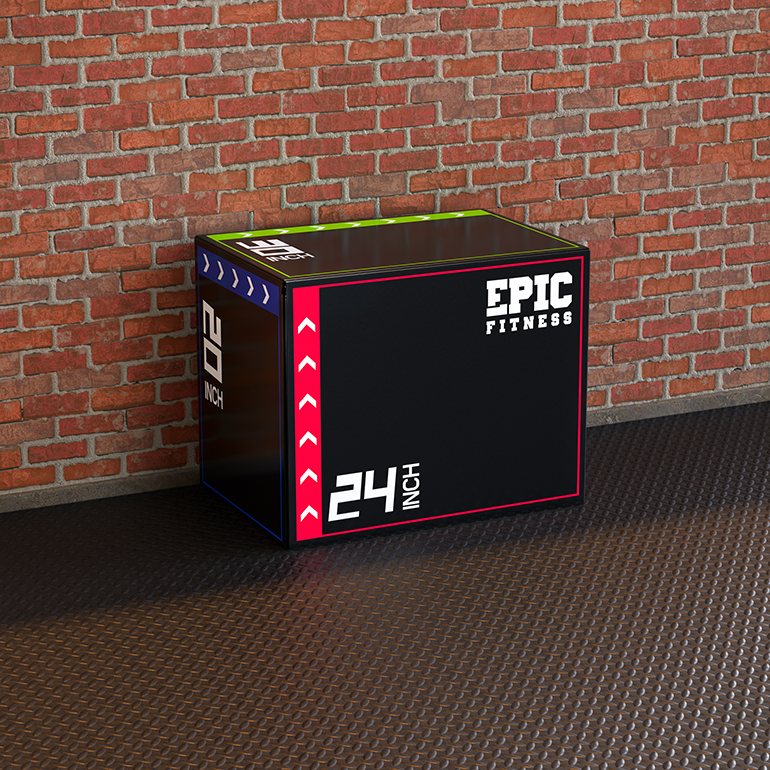 "Load image into Gallery viewer, 3-in-1 Foam Plyometric Jump Box (20"", 24"", 30"")"