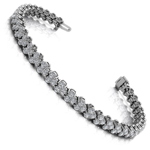 2.00-6.00 CT Round Cut Diamonds - Diamond Bracelet
