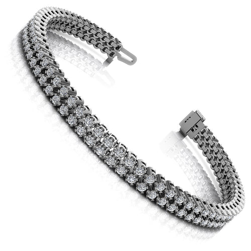 3.50-4.00 CT Round Cut Diamonds - Diamond Bracelet
