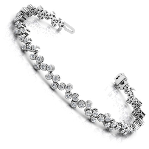 1.50-3.00 CT Round Cut Diamonds - Diamond Bracelet