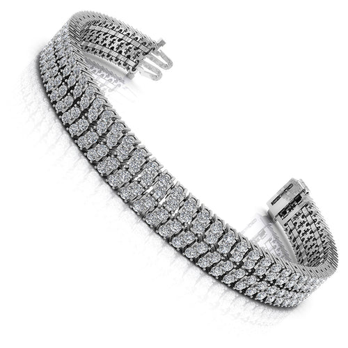 5.00-7.00 CT Round Cut Diamonds - Diamond Bracelet