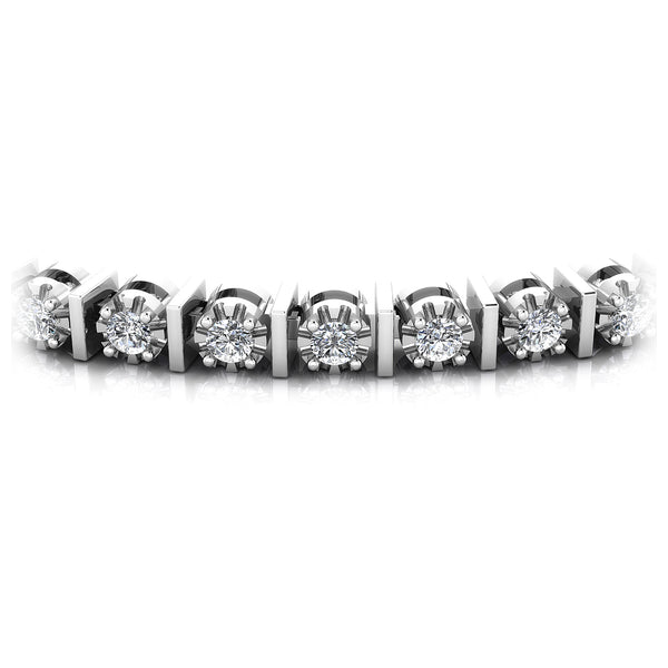 0.50-2.00 CT Round Cut Diamonds - Tennis Bracelet