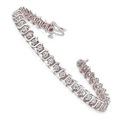 1.00-5.00 CT Round Cut Diamonds - Tennis Bracelet