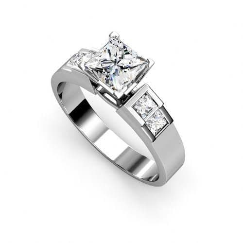 1.15-2.30 CT Princess Cut Diamonds - Engagement Ring