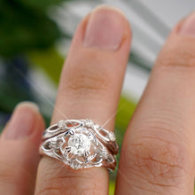 Load image into Gallery viewer, Bridal Sets 0.55-1.70CT Round Cut Diamonds
