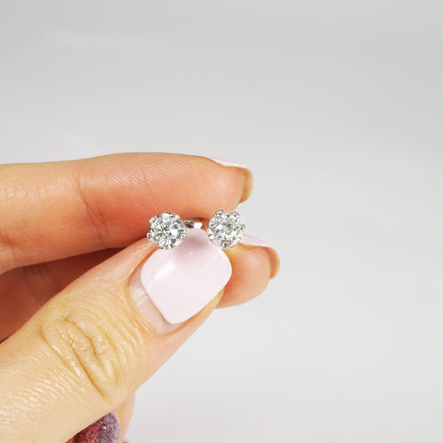 0.25 CT Round Cut Diamonds - Stud Earrings