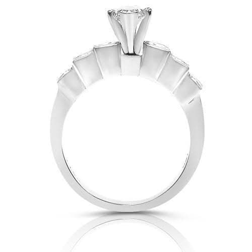 1.20-2.35 CT Round & Marquise Cut Diamonds - Engagement Ring