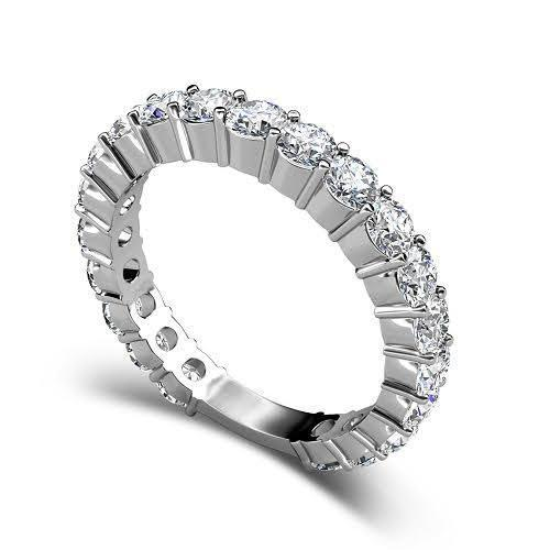 2.90 CT Round Cut Diamonds - Wedding Band