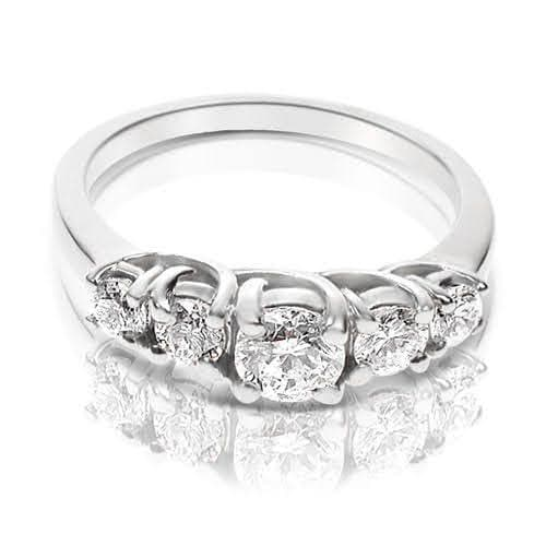 1.00 CT Round Cut Diamonds - Wedding Band