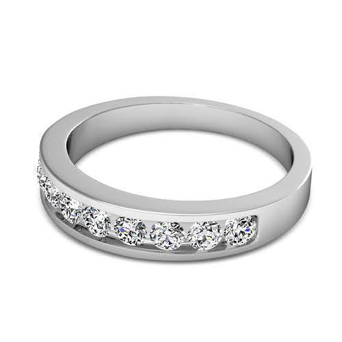 0.80 CT Round Cut Diamonds - Wedding Band
