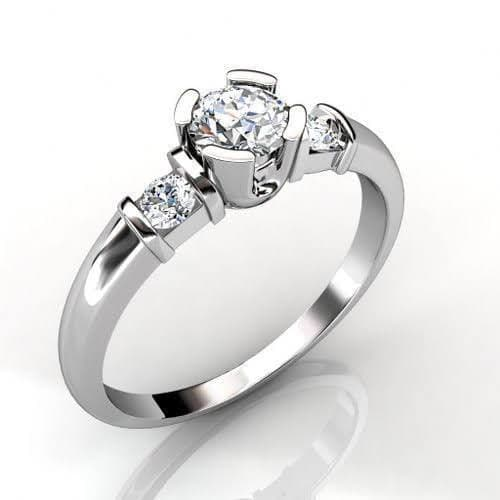 0.80 CT Round Cut Diamonds - Three Stone Ring