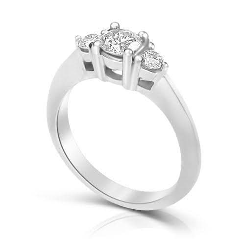 0.55 CT Round Cut Diamonds - Three Stone Ring