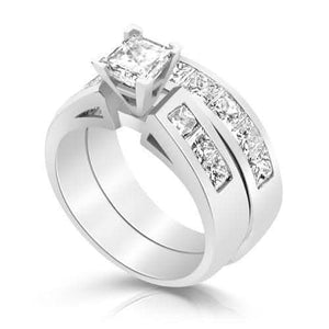 Bridal Sets 2.60-3.75CT Princess Cut Diamonds
