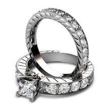 Load image into Gallery viewer, 1.80-2.95 CT Round & Princess Cut Diamonds - Bridal Set