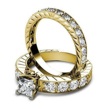 Load image into Gallery viewer, Bridal Sets 1.80-2.95CT Round & Princess Cut Diamonds