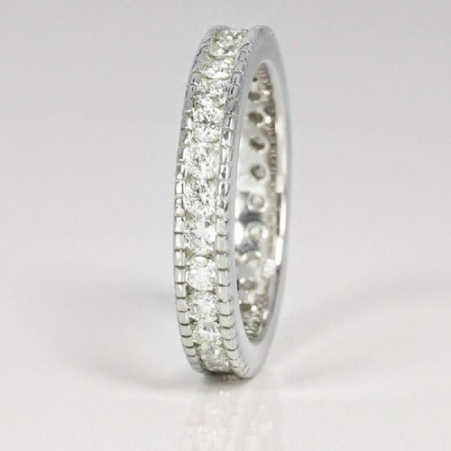 1.00 CT Round Cut Diamonds - Eternity Ring