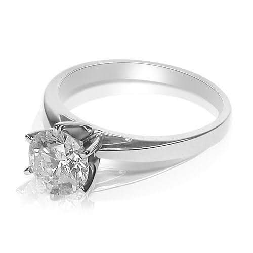 0.35-1.50 CT Round Cut Diamonds - Solitaire Ring