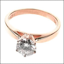 Load image into Gallery viewer, 0.35-1.50 CT Round Cut Diamonds - Solitaire Ring
