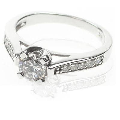 0.80-1.95 CT Round Cut Diamonds - Solitaire Ring