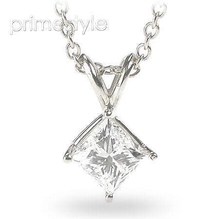 0.35-1.50 CT Princess Cut Diamonds - Solitaire Pendant