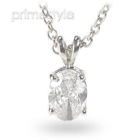 0.35-1.50 CT Oval Cut Diamonds - Solitaire Pendant