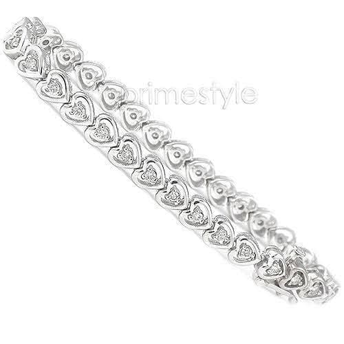 1.00-1.50 CT Round Cut Diamonds - Diamond Bracelet